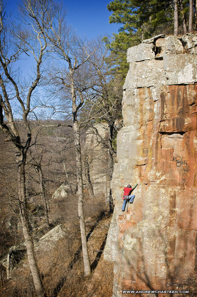 Rock Climbing Photo: me on filthy sanchez.  photo by andy chasteen (and...