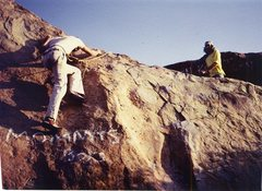 Rock Climbing Photo: My brother Doug Odenthal on Mommies Boys Left. Che...