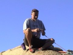 Rock Climbing Photo: On top of Halfdome Boulder