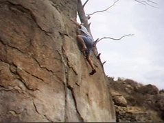 Rock Climbing Photo: Topping out on KingBee