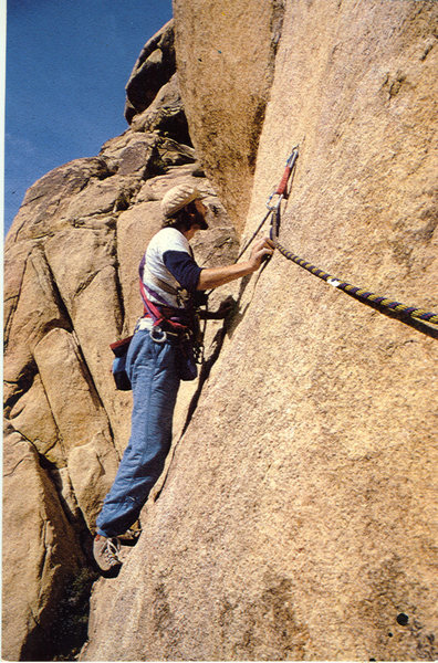 Rock Climbing Photo: Me on Swept Away.
