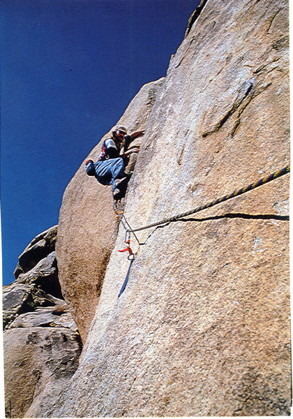 Rock Climbing Photo: Me in the Crux of Swept Away.
