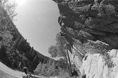 Rock Climbing Photo: Falling.... Photo: M. Huston.