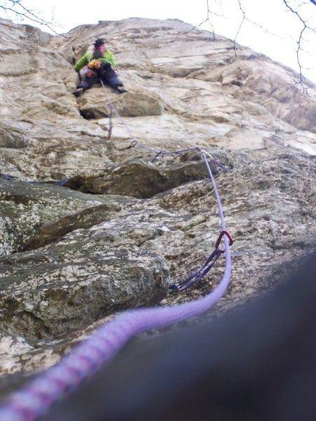 Rock Climbing Photo: Starting up the Mummy