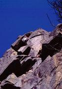 Rock Climbing Photo: Bob Horan on 1st ascent of Disneyland.