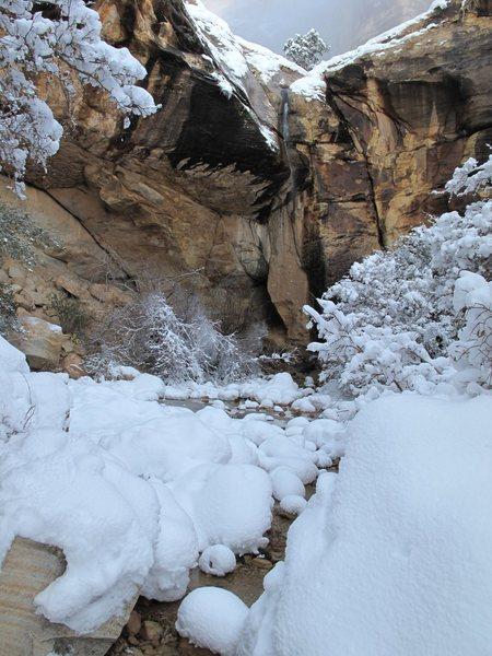 Hidden Falls. Red Rock. Dec 18, 2008.
