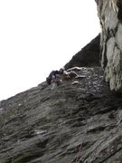 Rock Climbing Photo: Ben Schoedel Climbing the first pitch of Cave Rout...