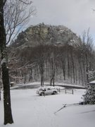 Rock Climbing Photo: Table Rock with November Snow