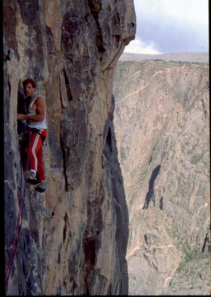 Rock Climbing Photo: Mike O'Donnell on 3rd ascent of Stratosphere, 1st ...