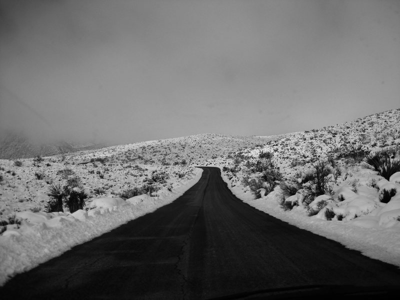 Driving through the Red Rock Loop on 12/18/08.