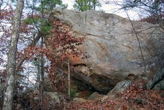 Rock Climbing Photo: The right side of the Main Overhang as you are app...