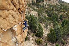 Rock Climbing Photo: oscar flashing india, first lead go...