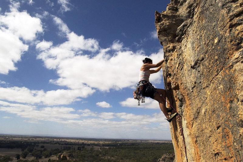 Rock Climbing Photo: dana ikeda on the Rack