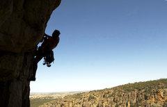 Rock Climbing Photo: luke on thunder crack
