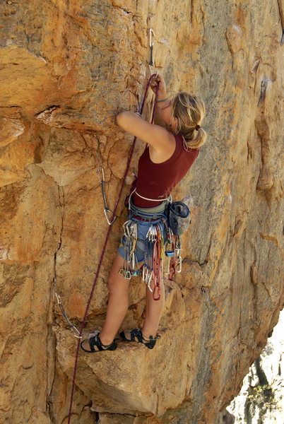 Rock Climbing Photo: hazel findlay on cruel consistency