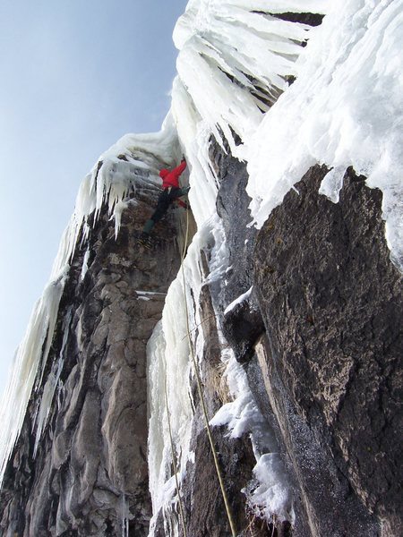 Rock Climbing Photo: 10 below and lovin' it.  Well, almost.  The hood w...