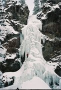 Rock Climbing Photo: Treasure in '07.  This is pretty fat conditions.  ...