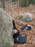 Rock Climbing Photo: Till Death Does Us Part. Mount Major. Alton, New H...
