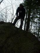 Rock Climbing Photo: Reach. Mount Major. Alton, New Hampshire.