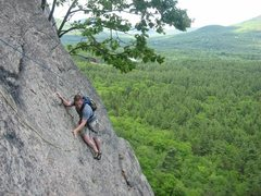 Rock Climbing Photo: Toe Crack. Cathedral. North Conway. New Hampshire.