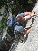 Rock Climbing Photo: Bombardment. Cathedral. North Conway. New Hampshir...
