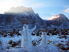 Rock Climbing Photo: The snow in Red Rock has already begun to melt dow...