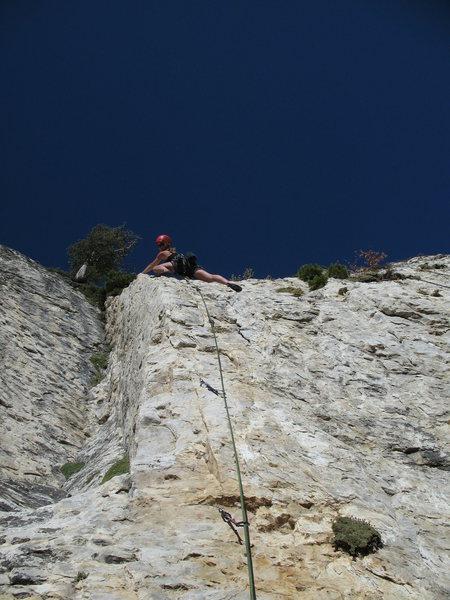 Rock Climbing Photo: Deanna Lee getting threw the crux.