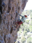 Rock Climbing Photo: Holly V on Once Upon a Time, Enchanted Tower, NM