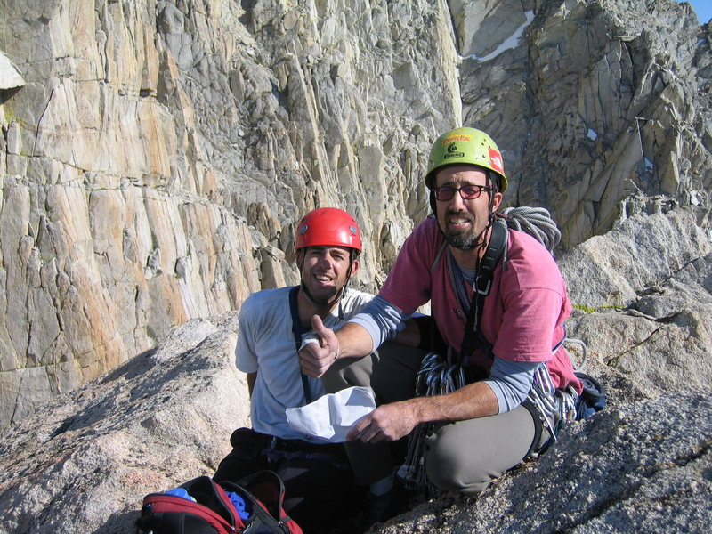 Rock Climbing Photo: Mark B and Brad M, Incredible Hulk Summit