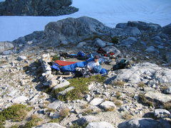 Bivy at base of Clyde's Minaret, Eastern Sierra