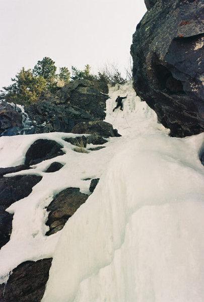 Ice climbing on 12 April 2006 - yeehaw!