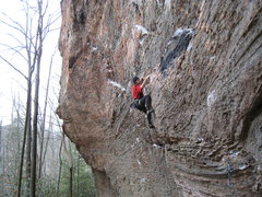 Rock Climbing Photo: Entering the business on Mercy, the Huff.