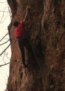 Rock Climbing Photo: Entering the short crux arete on Table of Colors.