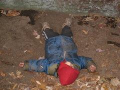 Rock Climbing Photo: Future hard-man Lucas Anderson demonstrates the pr...