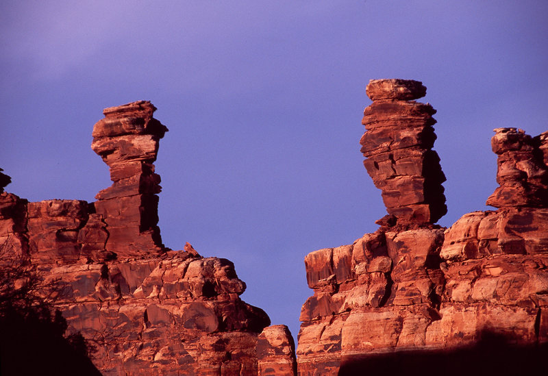 Rock Climbing Photo: Morning light on the South and North Towers.