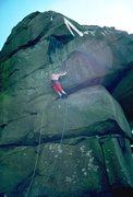 Rock Climbing Photo: Simon entering the niche on Five Finger Exercise, ...