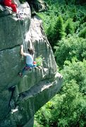 Rock Climbing Photo: The last few moves of Five Finger Exercise.
