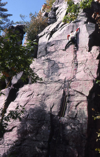 Rock Climbing Photo: Staying to the left assures skeptics that no cheat...