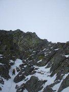 Rock Climbing Photo: J.G. leading pitch 5 ice