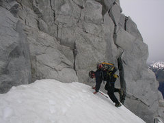 Rock Climbing Photo: Climbing down to climb back up