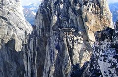 Rock Climbing Photo: Crossing the cannonhole.