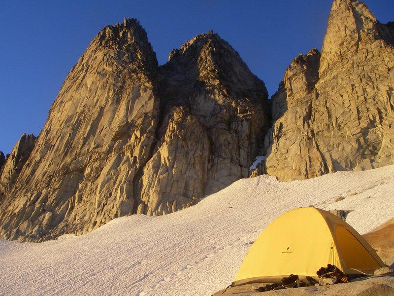 North peak, on the left