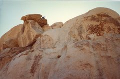 Rock Climbing Photo: Bruce Diffenbaugh following on the Geronimo finish...
