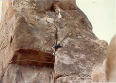 Rock Climbing Photo: Me belaying Bruce Diffenbaugh on MooseDog Tower In...