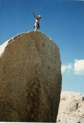 "Rock Climbing Photo: Me on the FFA of ""Ballbearings Under Foot 5.1..."