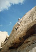 "Rock Climbing Photo: Me placing the first bolton on the FA of ""Hal..."