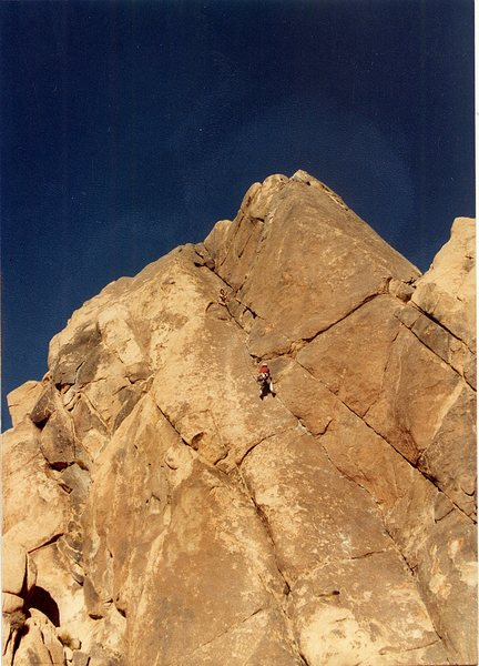 Rock Climbing Photo: Bruce Diffenbaugh belaying me up Moosedog Tower.