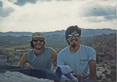 Rock Climbing Photo: Rob Mulligan and I in JT.
