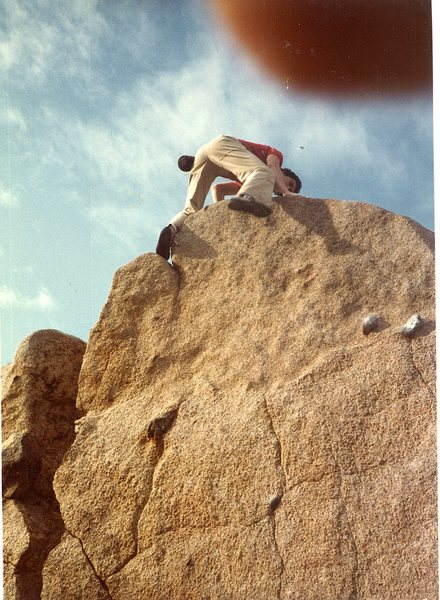 Bruce Diffenbaugh bouldering around Big Rock.