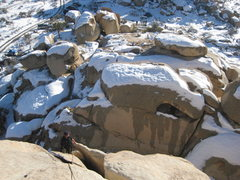 Rock Climbing Photo: The Buissonier, cold start, but route was dry, lik...